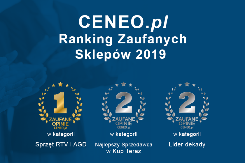 NEO24.PL w czołówce Zaufanych Sklepów 2019 w rankingu Ceneo.pl