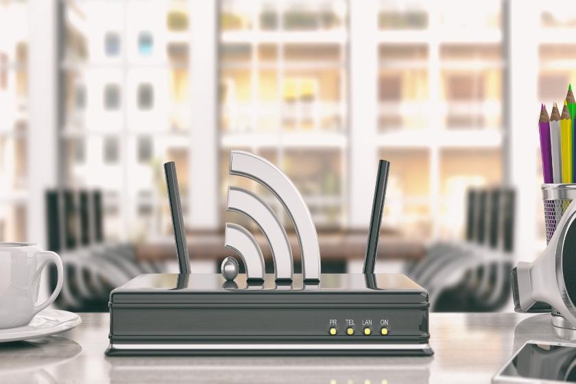 Router  z dwoma antenami